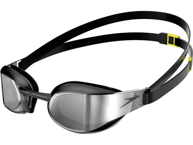 speedo Fastskin Elite Mirror Okulary pływackie, black/dark chrome